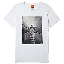 Buy BOSS Orange Timblin 2 Scooter Print T-Shirt Online at johnlewis.com