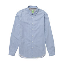 Buy BOSS Green C-Birck Circle Diamond Print Shirt, Navy Online at johnlewis.com