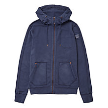 Buy BOSS Orange Ztylo Jersey Hoodie, Dark Blue Online at johnlewis.com