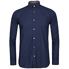 Buy Ted Baker Coolkid Printed Shirt, Navy Online at johnlewis.com
