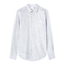 Buy Jigsaw Ombre Check Shirt, Pale Blue Online at johnlewis.com