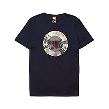 Buy BOSS Orange Taiwo 2 Graphic Print T-Shirt, Dark Blue Online at johnlewis.com