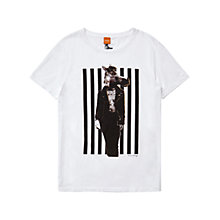 Buy BOSS Orange Timblin 4 Horse Print T-Shirt, White Online at johnlewis.com
