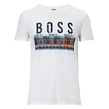 Buy BOSS Orange Taiwo Logo Print T-Shirt Online at johnlewis.com