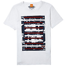 Buy BOSS Orange Taiwo 3 Graphic Print T-Shirt Online at johnlewis.com