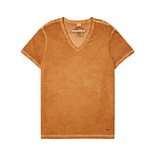 Buy BOSS Orange Tolouse V-Neck T-Shirt, Medium Orange Online at johnlewis.com