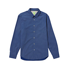 Buy BOSS Green C-Birck Navy Base Print Shirt, Bright Blue Online at johnlewis.com