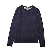 Buy BOSS Orange Wyott Dot Sweatshirt, Dark Blue Online at johnlewis.com