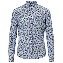 Buy BOSS Orange Eribbone Floral Print Shirt, Dark Blue Online at johnlewis.com