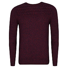 Buy Ted Baker Spoktan Cable Knit Jumper, Dark Red Online at johnlewis.com