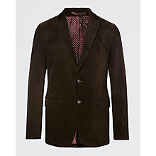 Buy Jigsaw Tailored Corduroy Two Button Jacket, Lead Online at johnlewis.com