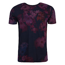 Buy Ted Baker Vylot Digital Floral Print Top, Grape Online at johnlewis.com