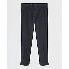Buy Jigsaw Puppy Tooth Garment-dye Trousers, Indigo Online at johnlewis.com