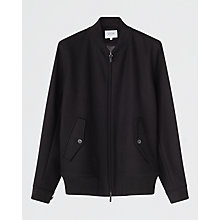 Buy Jigsaw Jersey Bomber Jacket, Black Online at johnlewis.com