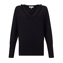 Buy Somerset by Alice Temperley Frill Neck Jumper, Black Online at johnlewis.com