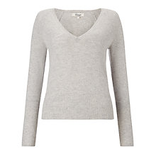 Buy Somerset by Alice Temperley Cashmere V-Neck Jumper, Grey Online at johnlewis.com