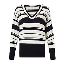 Buy Somerset by Alice Temperley Frill Neck Jumper, Black/Cream Online at johnlewis.com