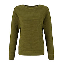 Buy Kin by John Lewis Textured Sweatshirt, Khaki Online at johnlewis.com