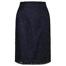 Buy John Lewis Cila Lace Pencil Skirt, Navy Online at johnlewis.com