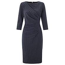 Buy John Lewis Alexie Textured Dress, Navy Online at johnlewis.com