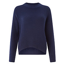 Buy Kin by John Lewis Cable Knit Jumper, Navy Online at johnlewis.com