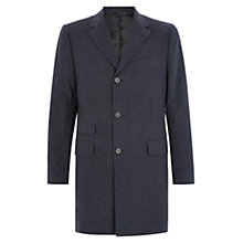 Buy Aquascutum Rydal Moleskin Overcoat, Charcoal Online at johnlewis.com