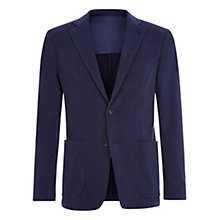 Buy Aquascutum Lambourn Garment Dyed Moleskin Slim Fit Suit Jacket, Navy Online at johnlewis.com