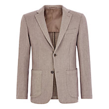Buy Aquascutum Brinkworth Garment Dyed Slim Fit Blazer, Beige Online at johnlewis.com