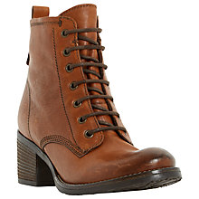 Buy Dune Patsie Lace Up Block Heeled Ankle Boots Online at johnlewis.com