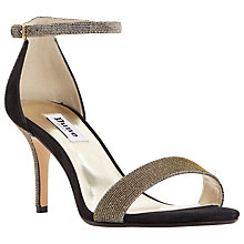 Buy Dune Mariee Two Part Strap Sandals, Gold Online at johnlewis.com