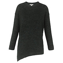 Buy Whistles Mohair Mix Asymmetric Knit Jumper, Green Online at johnlewis.com