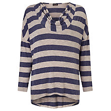 Buy Phase Eight Sophie Stripe Jersey Top, Blue/Natural Online at johnlewis.com