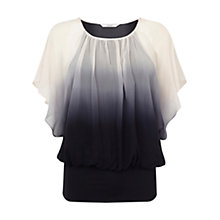 Buy Coast Calla Silk Dip Dye Top, Blush Online at johnlewis.com