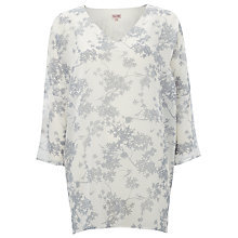 Buy Phase Eight Blossom Tunic, Ivory/Silver Online at johnlewis.com