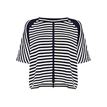 Buy Karen Millen Stripe Knit Top, Blue/Multi Online at johnlewis.com