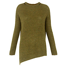 Buy Whistles Mohair Mix Knit, Yellow/Multi Online at johnlewis.com