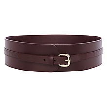 Buy Karen Millen Croc Detail Waist Belt, Aubergine Online at johnlewis.com