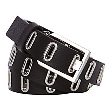 Buy Karen Millen Eyelet Leather Belt Online at johnlewis.com