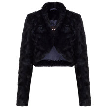 Buy Phase Eight Katya Faux Fur Jacket, Blue Black Online at johnlewis.com