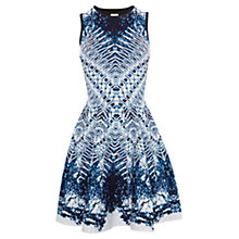 Buy Karen Millen Marble Skater Dress, Blue/Multi Online at johnlewis.com