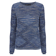 Buy Karen Millen Textured Jumper, Blue/Multi Online at johnlewis.com