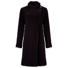 Buy Phase Eight Rosaleen Raschel Coat, Black Online at johnlewis.com