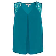Buy Coast Roka Lace Top, Jade Online at johnlewis.com