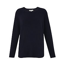 Buy Whistles Cashmere Ribbed Boxy Jumper Online at johnlewis.com