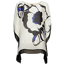 Buy Phase Eight Neva Silk Oversized Floral Print Blouse, White/Multi Online at johnlewis.com