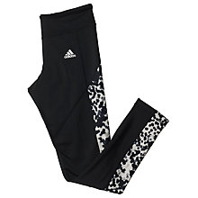 Buy Adidas Techfit Climawarm Printed Running Tights, Black Online at johnlewis.com