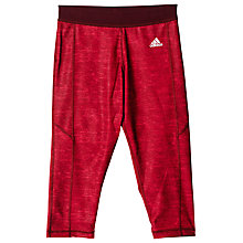 Buy Adidas Go to Gear Techfit 3/4 Length Heathered Capris, Dark Pink Online at johnlewis.com