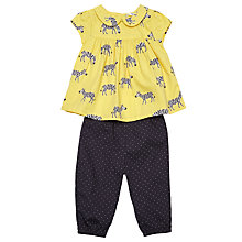 Buy John Lewis Baby Zebra Top and Spot Bottoms Set, Yellow Online at johnlewis.com