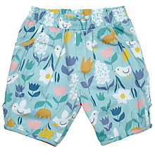 Buy John Lewis Baby Floral Woven Shorts, Blue Online at johnlewis.com