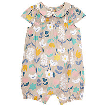 Buy John Lewis Baby Bird and Flower Playsuit, Cream Online at johnlewis.com